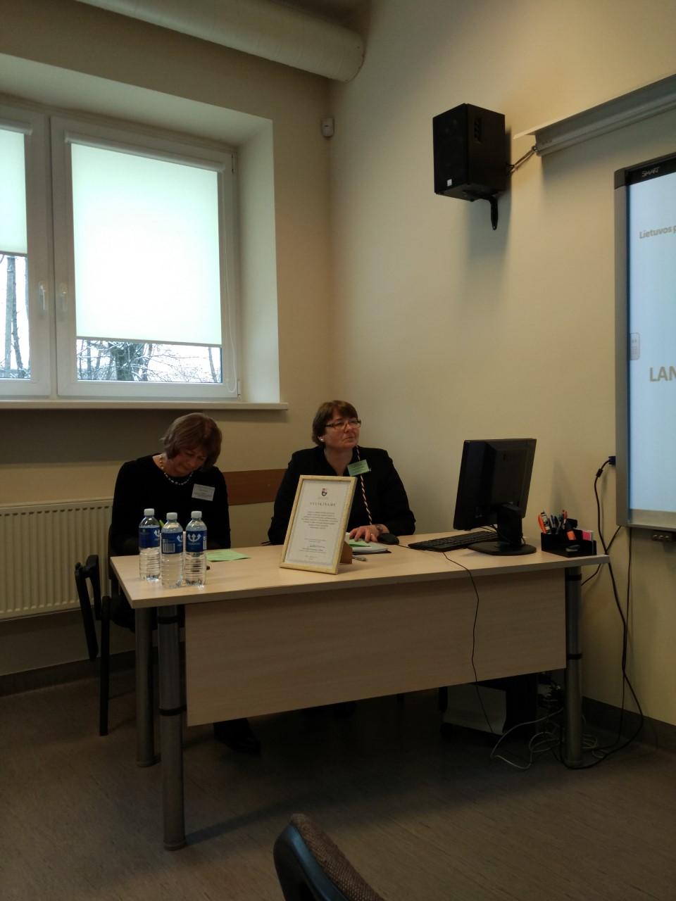 Pirmininkauja Prof. Dr. Raimonda Brunevičiūtė (LSMU) ir Lietuvos prancūzų kalbos mokytojų ir dėstytojų asociacijos prezidentė Vilija Sušinskienė